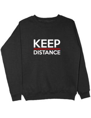 Свитшот Keep distance черный
