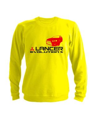 Свитшот Lancer Evolution X желтый