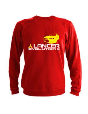 Свитшот Lancer Evolution X красный