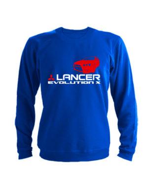 Свитшот Lancer Evolution X синий