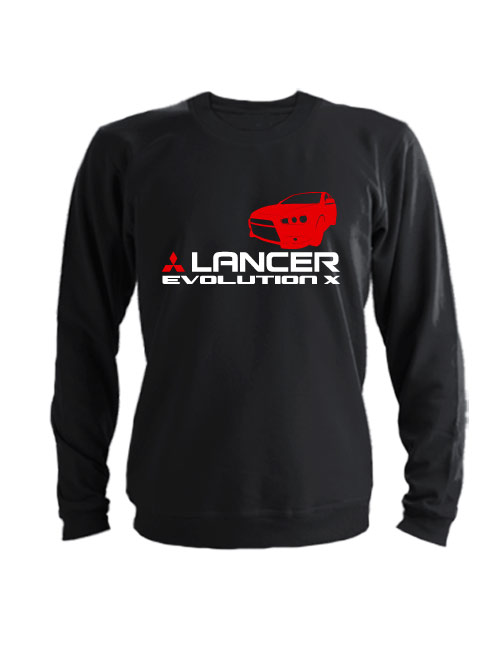 Свитшот Lancer Evolution X черный