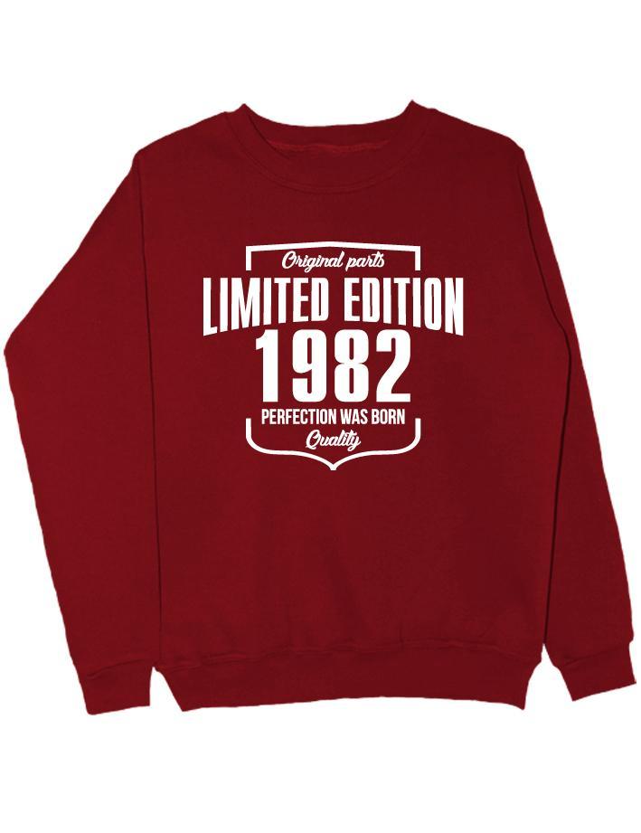 Свитшот Limited Edition 1982 бордовый