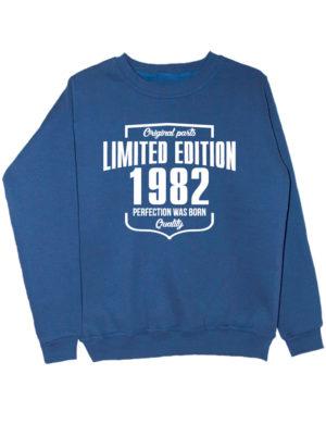 Свитшот Limited Edition 1982 индиго