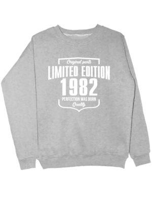 Свитшот Limited Edition 1982 серый