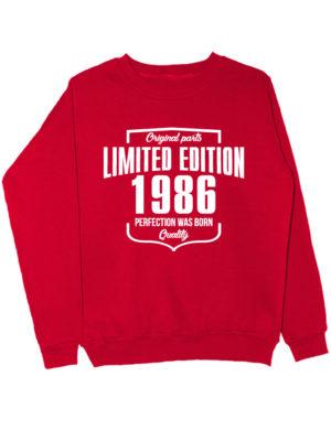 Свитшот Limited Edition 1986 красный