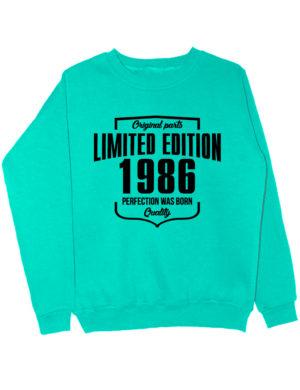 Свитшот Limited Edition 1986 мятный