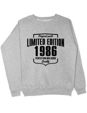 Свитшот Limited Edition 1986 серый