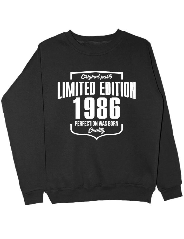Свитшот Limited Edition 1986 черный