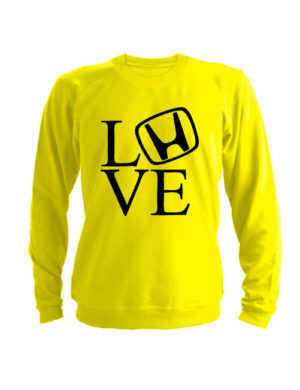 Свитшот Love honda желтый