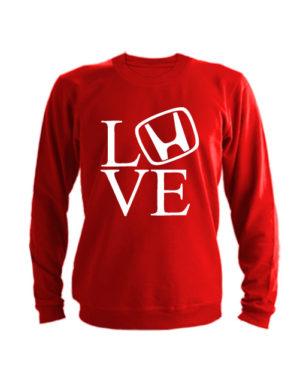 Свитшот Love honda красный