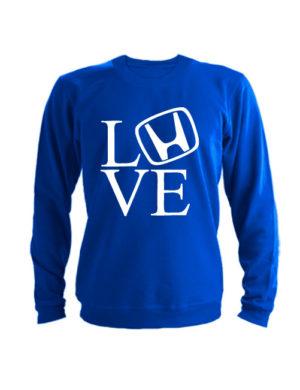 Свитшот Love honda синий