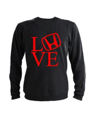 Свитшот Love honda черный
