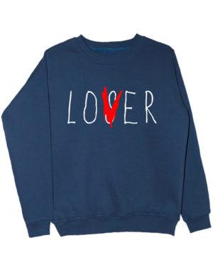Свитшот Lover индиго