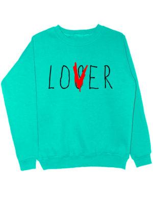 Свитшот Lover мятный