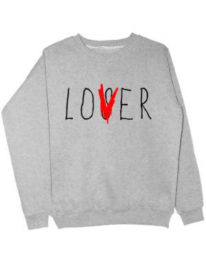 Свитшот Lover серый