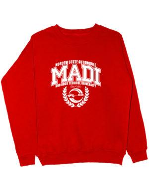 Свитшот MADI University красный
