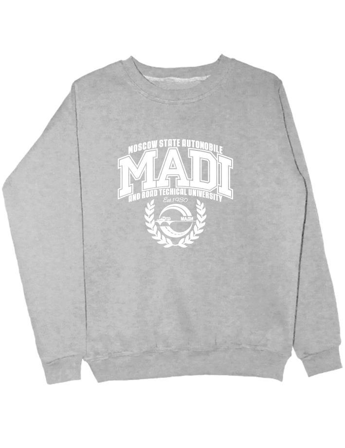 Свитшот MADI University серый