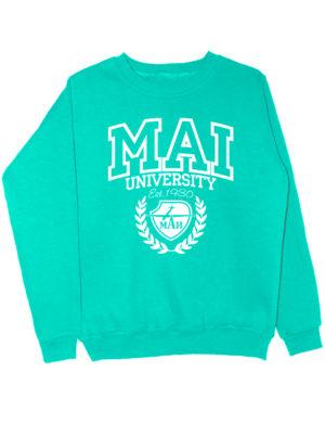 Свитшот MAI University мятный