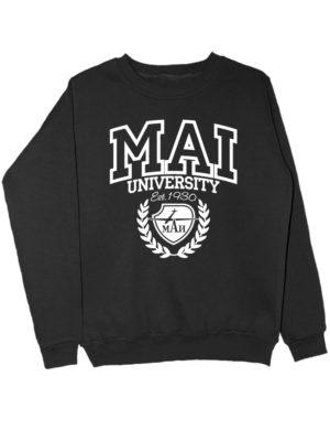 Свитшот MAI University черный