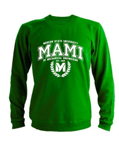 Свитшот MAMI University зеленый