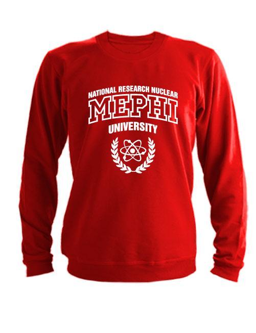 Свитшот MEPHI красный