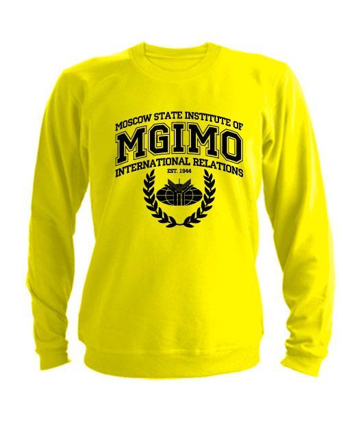 Свитшот MGIMO Institute желтый