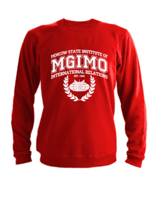 Свитшот MGIMO Institute красный