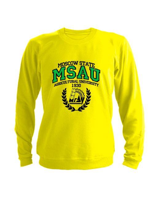 Свитшот MSAU желтый