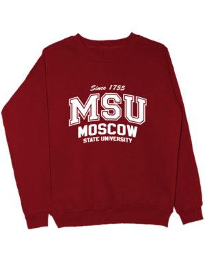 Свитшот MSU University бордовый
