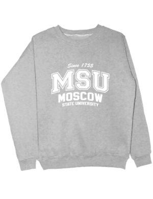 Свитшот MSU University серый