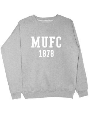 Свитшот MU FC 1878 серый