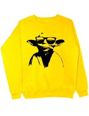 Свитшот Master Yoda желтый