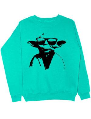 Свитшот Master Yoda мятный