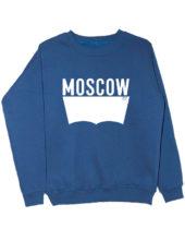 Свитшот Moscow индиго
