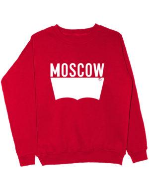 Свитшот Moscow красный