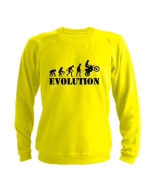 Свитшот Moto Evolution желтый