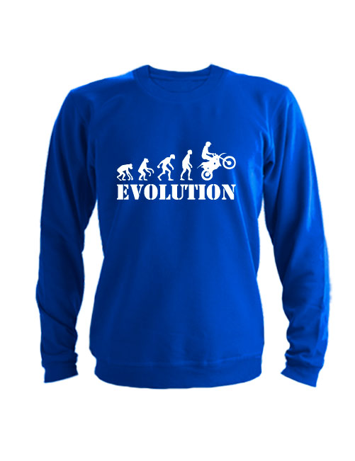 Свитшот Moto Evolution синий