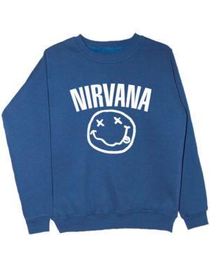Свитшот Nirvana индиго