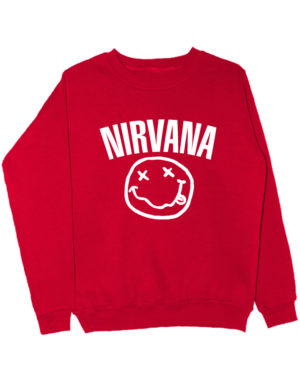 Свитшот Nirvana красный