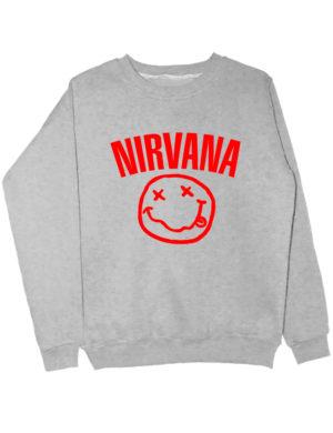 Свитшот Nirvana серый
