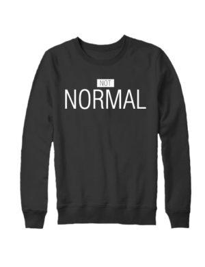 Свитшот Not normal черный
