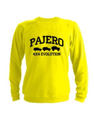 Свитшот Pajero 4x4 evolution желтый