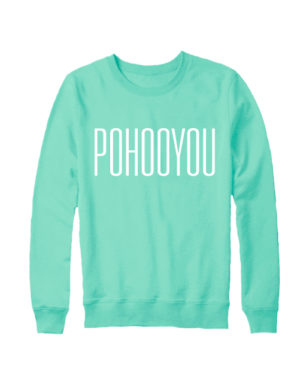 Свитшот Pohooyou мятный