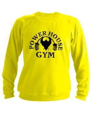 Свитшот Power house gym желтый