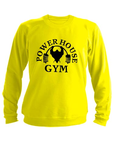 Свитшот Power house gym желтый