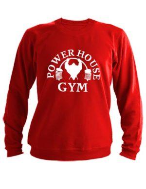 Свитшот Power house gym красный