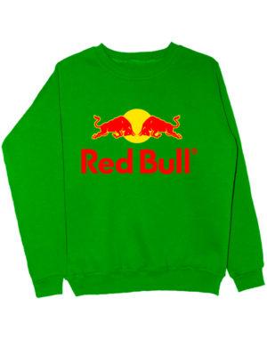 Свитшот Red Bull зеленый