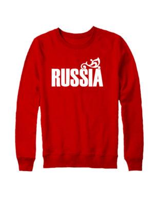 Свитшот Russia красный