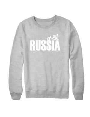 Свитшот Russia серый меланж