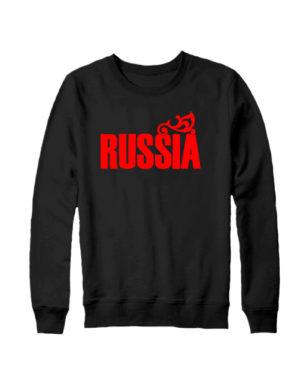 Свитшот Russia черный
